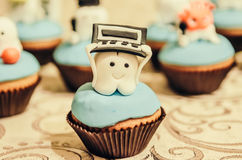 Cake with tooth hero on top Stock Photos