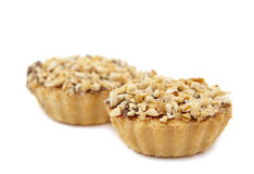 Cake topped with peanuts Royalty Free Stock Photos
