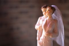 Cake topper lesbian wedding couple royalty free stock images