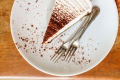 Cake topping with dark chocolate Stock Image