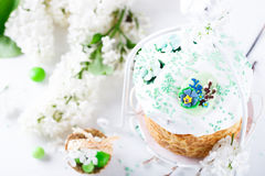 cake traditionella easter Royaltyfria Bilder