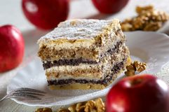 cake traditionella slovenia arkivfoto