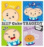 Cake tragedy Stock Image