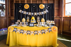 Cake and treats for Baby shower Royalty Free Stock Image