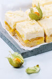 Cake with tropical fruits stock photography