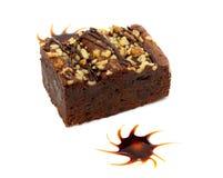 Cake truffle with black chocolate Stock Photography