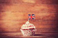 Cake with UK flag. Stock Image
