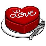 Cake Valentine Heart Royalty-vrije Stock Afbeelding