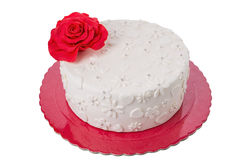 Cake on Valentine's Day. Royalty Free Stock Images
