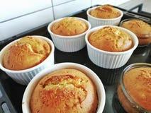 Cake van de muffins yummy heerlijk Keuken royalty-vrije stock foto's