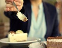 Cake van de veganist de Zeer belangrijke kalk Royalty-vrije Stock Foto's