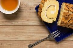 Cake van het vanille de Marmeren Broodje Stock Foto's