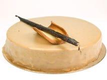 Cake van karamel met kaneel en koekje Stock Fotografie