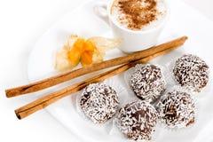 Cake van koffie stock afbeeldingen