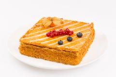 Cake van vlokkig gebakje Royalty-vrije Stock Foto