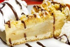 Cake with vanila icecream Stock Photos