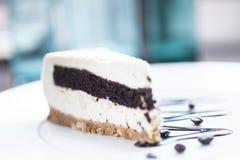 Cake vanilla-coffee Royalty Free Stock Image