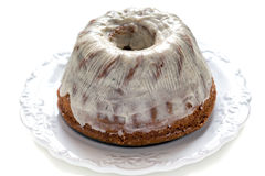Cake with vanilla cream. Royalty Free Stock Photos