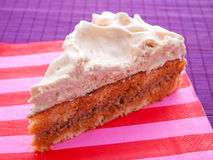 Cake with vanilla frosting Stock Image