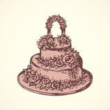 Cake. Vector drawing Royalty Free Stock Photos