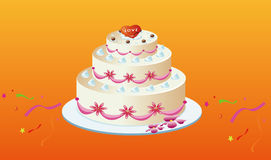 Cake. Vector graphics, color and fragrance of the United States of the cake, to my dear Royalty Free Stock Photos