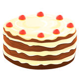 Cake, vector illustration Royalty Free Stock Images