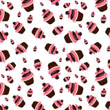 Cake vector pattern Royalty Free Stock Photography