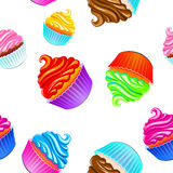 Cake vector pattern Stock Image