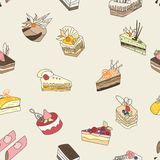 Cake vector pattern Royalty Free Stock Photos