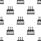Cake, vector seamless pattern Stock Images
