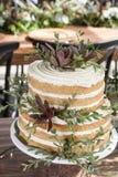 Cake voor de huwelijksviering Stock Foto