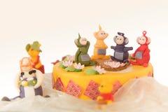 Cake voor jonge geitjes Stock Fotografie