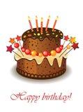 Cake voor verjaardag Royalty-vrije Stock Foto
