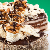 Cake with walnuts Royalty Free Stock Photo