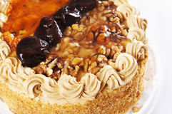 Cake with walnuts Stock Image