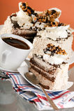 Cake with walnuts Royalty Free Stock Image