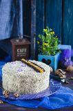 Cake with walnuts and poppy seeds Stock Photos