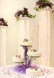 cake wedding 免版税库存图片