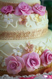Cake for wedding celebration Royalty Free Stock Photos