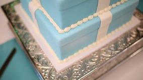 Cake Wedding stock footage