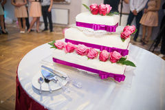 Cake at a wedding Stock Images