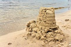 Sand pie on the river bank Royalty Free Stock Images