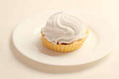 Cake with whipped cream Stock Image
