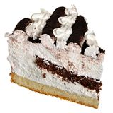 Cake with whipped cream and Chocolate white background Stock Photography