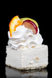 Cake With Whipped Cream And Fruit Royalty Free Stock Images