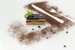 Cake on a white background Stock Image