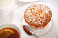 Cake on white dish Stock Photo