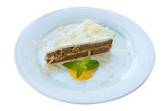 Cake on a white dish Royalty Free Stock Photography