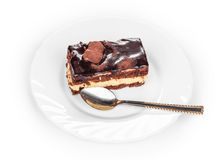 Cake on a white plate. Stock Images