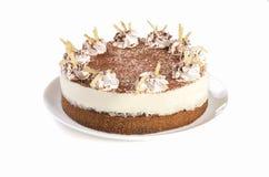 Cake isolated on white background stock photography